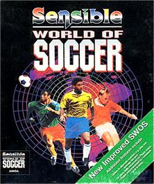 Box cover for Sensible World of Soccer on the Commodore Amiga.