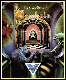 Box cover for Seven Gates of Jambala on the Commodore Amiga.