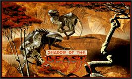 Box cover for Shadow of the Beast on the Commodore Amiga.