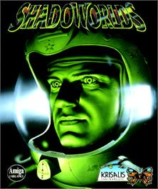 Box cover for Shadoworlds on the Commodore Amiga.