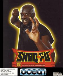 Box cover for Shaq Fu on the Commodore Amiga.
