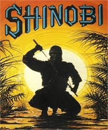 Box cover for Shinobi on the Commodore Amiga.