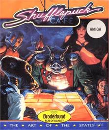 Box cover for Shufflepuck Cafe on the Commodore Amiga.