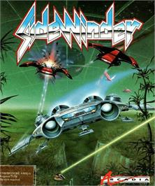 Box cover for Sidewinder on the Commodore Amiga.