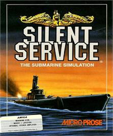 Box cover for Silent Service on the Commodore Amiga.