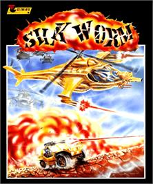 Box cover for Silk Worm on the Commodore Amiga.