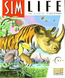 Box cover for Sim Life on the Commodore Amiga.