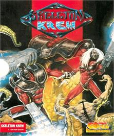 Box cover for Skeleton Krew on the Commodore Amiga.