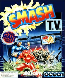 Box cover for Smash T.V. on the Commodore Amiga.