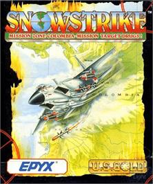 Box cover for Snowstrike on the Commodore Amiga.