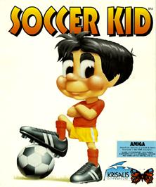 Box cover for Soccer Kid on the Commodore Amiga.