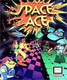 Box cover for Space Ace on the Commodore Amiga.