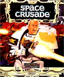 Box cover for Space Crusade on the Commodore Amiga.