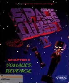 Box cover for Space Quest II: Vohaul's Revenge on the Commodore Amiga.