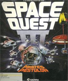 Box cover for Space Quest III: The Pirates of Pestulon on the Commodore Amiga.