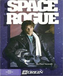 Box cover for Space Rogue on the Commodore Amiga.