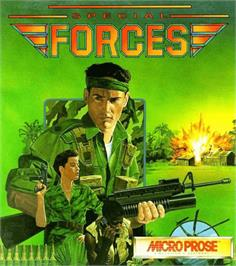 Box cover for Special Forces on the Commodore Amiga.