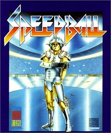 Box cover for Speedball on the Commodore Amiga.
