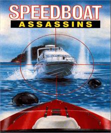 Box cover for Speedboat Assassins on the Commodore Amiga.
