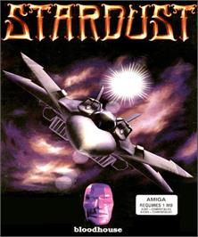 Box cover for Star Dust on the Commodore Amiga.