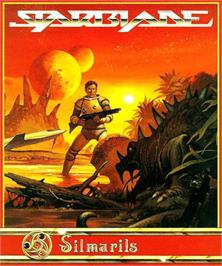 Box cover for Starblade on the Commodore Amiga.