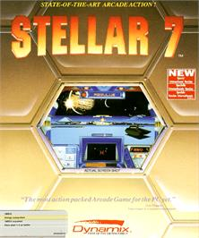 Box cover for Stellar 7 on the Commodore Amiga.