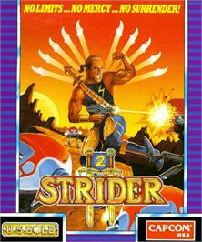 Box cover for Strider 2 on the Commodore Amiga.