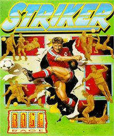 Box cover for Striker on the Commodore Amiga.