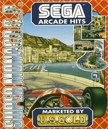 Box cover for Super Monaco GP on the Commodore Amiga.
