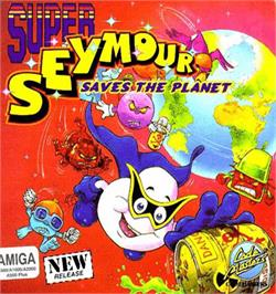 Box cover for Super Seymour Saves the Planet on the Commodore Amiga.