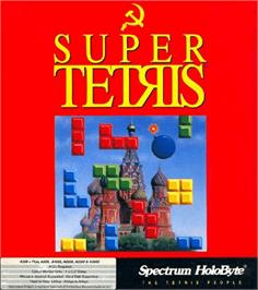 Box cover for Super Tetris on the Commodore Amiga.