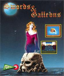 Box cover for Swords and Galleons on the Commodore Amiga.