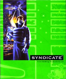 Box cover for Syndicate on the Commodore Amiga.