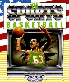 Box cover for TV Sports: Basketball on the Commodore Amiga.