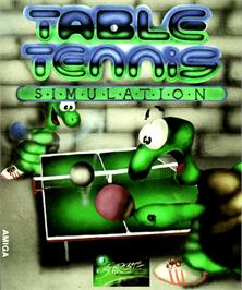 Box cover for Table Tennis Simulation on the Commodore Amiga.