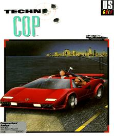 Box cover for Techno Cop on the Commodore Amiga.