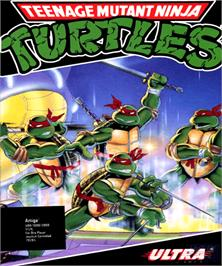 Box cover for Teenage Mutant Ninja Turtles on the Commodore Amiga.