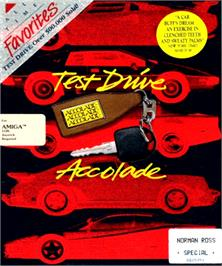 Box cover for Test Drive on the Commodore Amiga.