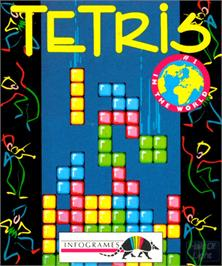 Box cover for Tetris on the Commodore Amiga.