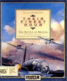 Box cover for Their Finest Hour: The Battle of Britain on the Commodore Amiga.