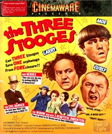 Box cover for Three Stooges on the Commodore Amiga.