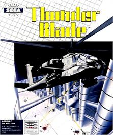 Box cover for Thunder Blade on the Commodore Amiga.