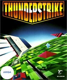 Box cover for Thunder Strike on the Commodore Amiga.