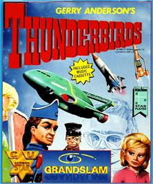 Box cover for Thunderbirds on the Commodore Amiga.
