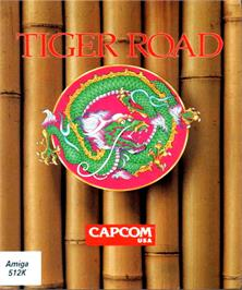 Box cover for Tiger Road on the Commodore Amiga.