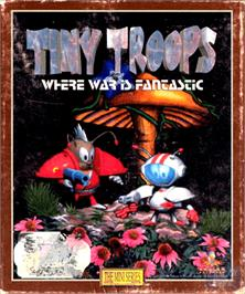 Box cover for Tiny Troops on the Commodore Amiga.