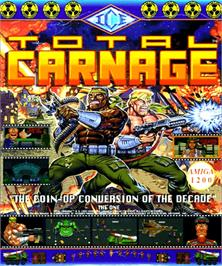 Box cover for Total Carnage on the Commodore Amiga.