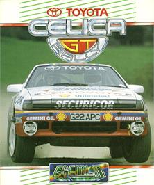 Box cover for Toyota Celica GT Rally on the Commodore Amiga.