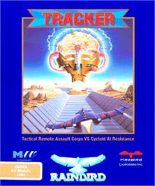 Box cover for Tracker on the Commodore Amiga.