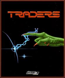 Box cover for Traders: The Intergalactic Trading Game on the Commodore Amiga.